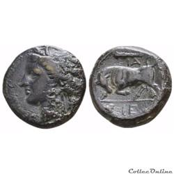 SICILE (Syracuse) Hiéron II - Litra (Revers Taureau ) - Unité de Bronze - (-275 - 265)