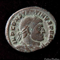 Constantin Ier, follis, Rome  R/ SOLI IN...