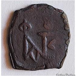 Justin II & Sophie (565-578 AD)  décanummium au Monogramme. Constantinople Sear 363