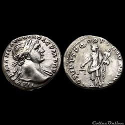 Trajan (98 - 117) deniers Aequitas RIC 118