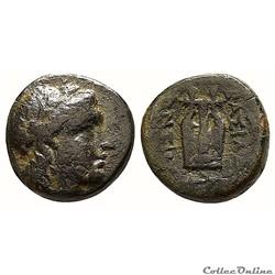 Antiochos VIII, Akko Ptolemais Æ12 / Apo...