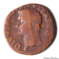 AUGUSTE – As  (24/37 Ap . JC) Rome - Consécration de TIBERE - RIC 82