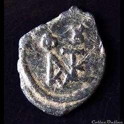 "Justin II & Sophie (565-578 AD) Pentanummium ""au Monogramme"". Constantinople."