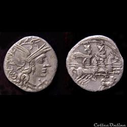 ANTESTIA Denier 146 AC. Rome
