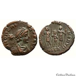 Honorius Æ 13 Nummus. Alexandria, AD 406...
