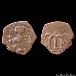 """Pseudo byzantine type """"N rétrograde"""" - Pottier Classe IV (658 - 670 A.D)"""