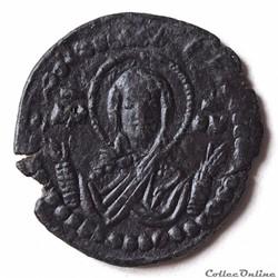 """Romain IV """"Diogène"""" (1068 - 1071) Follis Anonyme au """"Christ nimbé"""" & """"La Vierge Marie"""""""
