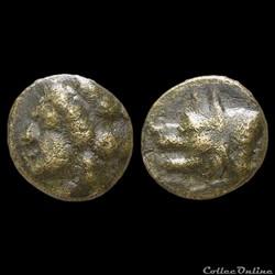 """ARGOLIS - ARGOS Unité de Bronze  (370-270 Av.jc) """"Tyché au Loup"""""""