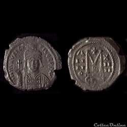 Maurice Tibère (582-602) émis à Constantinople (595-596) Follis - Sear 494 Var. MIBEC 67 D2