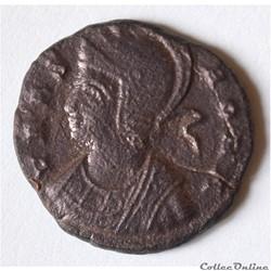 """Constantin 1er - Nummus ROMA """"à la Louve"""" (334/335, Sisca) RIC 240"""