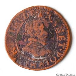 Henri III (1574 - 1589) Double tournois,...