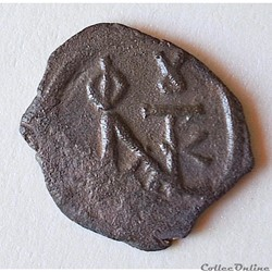 "Justin II & Sophie (565-578 AD) décanummium ""au Monogramme"" . Constantinople. Sear 363"