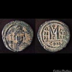 Maurice Tibère émis à Constantinople G Anno ç (587-588) Follis - Sear 493