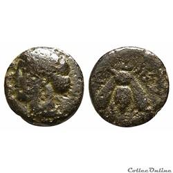 """IONIE - ÉPHÈSE Unité AE bronze Type """"Magistrat à l'Abeille"""" (280-258 av. J.-C )"""
