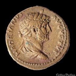Hadrien (117-138 AD) Semis à La lyre - Rome pour la Syrie - RIC 688