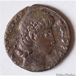 Constance II (337-361). Follis ou nummus ?  Antioche, 2e officine, 347-348. R/: VOT / XX / MVLT/ XXX