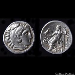 Drachme au Type d'Alexandre le Grand sous le règne de Philip III (322-319 av. jc) - à La Lyre