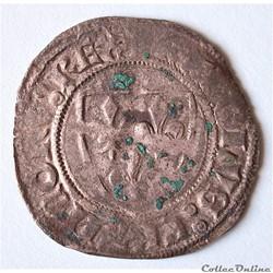 """Charles VI (1380 - 1422) , Blanc dit """"Gu..."""