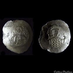 Jean II Comnène (1118-1143) Sear 1944 - Billon aspron trachy au Christ