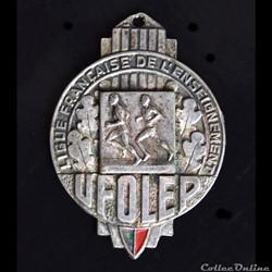 """Médaille UFOLEP """"Ligue Française de l'Enseignement"""" (Années 50)"""