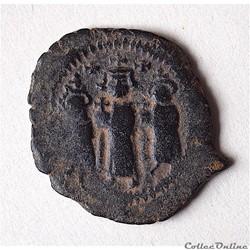 Heraclius , Héraclius Constantin et Martine (614-638) Follis Constantinople