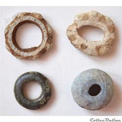 Gaule Celtique, fusaïoles en plomb et br...