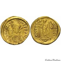 Anastase Ier (491-518 ap. J.-C.). Solidus, 492-507 AD Constantinople