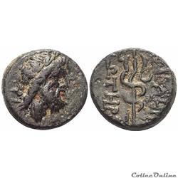 Mysien Pergamon Bronze au Asklepios et Caducée (moitié du 2ème siècle. av.jc)