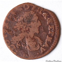 Louis XIII (1610 - 1643) double tournois 1639 - CGKL 512