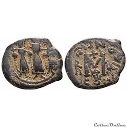 Heraclius, Constantin et Martine (614-638) Follis Constantinople Sear 808