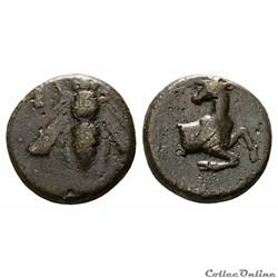 """IONIE - EPHESE, AE bronze """"à l'Abeille et cervidé"""" ( IIIème s. av. J.-C )"""