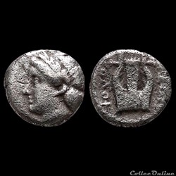 Ionia - Kolophon (BC 375-360) Diobole