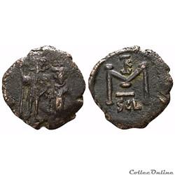 Constans II et Constantin IV , 641-668,  Follis, Syracuse  Sear 1109