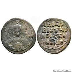 Follis anonyme de classe A2 attribué à Basil II et Constantin VIII (976-1025)