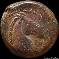 ZEUGITANE - CARTHAGE Shekel ou Unité de Bronze (300 - 264 av.jc)