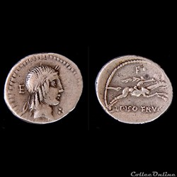 CALPURNIA(67 avant J.-C.) -Caius Calpurnius Piso Frugi -Denier67 AC.