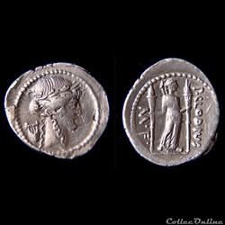 Denier Claudia - Publius Clodius - Apollon à la Lyre - (42 av. jc)