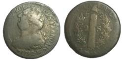 2 sols  dit au faisceau  1792 .BB.