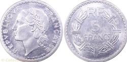5 francs 1945 Frappe Médaille