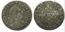 """Quatre sols dits """"des traitants"""" 1676 Ly..."""