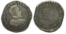 Teston à la tête nue, 1560 Lyon MONNAYAG...