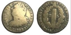 2 sols  dit au faisceau  1792 R.