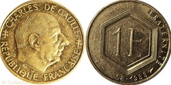 1 franc Charles de Gaule 1988 frappe ave...