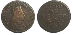liard de France 1655 C