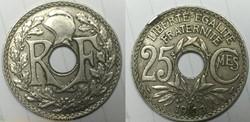 25 centimes lindauer 1933 virole casser