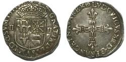 Quart d'écu de Béarn 1611 Pau LOUIS XIII...