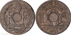 10 centimes lindaueur non trouée