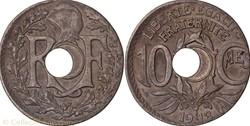 10 centimes Lindauer 1918, erreur de fla...