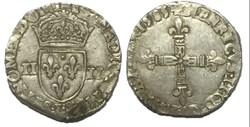 Quart d'écu, croix de face 1585 Bayonne ...
