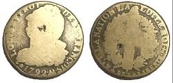 2 sols  dit au faisceau  1793. M.
